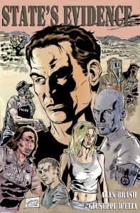 Cover of graphic novel, State's Evidence