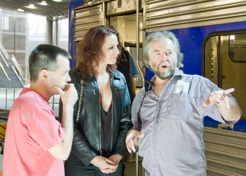 Alan liaises with Lisa Chappell and 1st AD Tony Forster